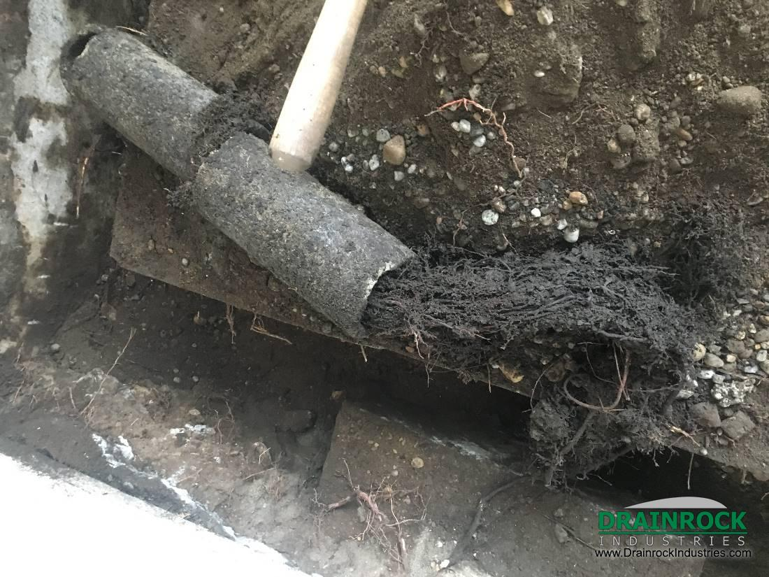 Hydro Flushing Of Clogged Drain Pipes Perimeter Drain