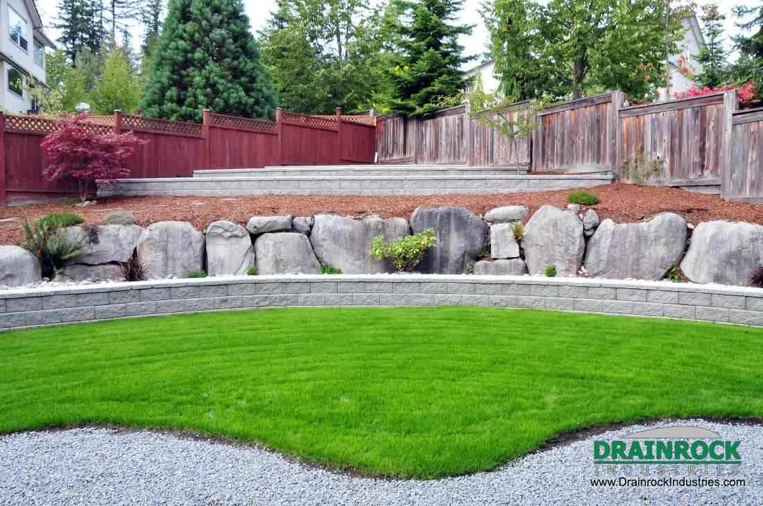 Landscaping surrey drainage contractor yard perimeter for Landscaping rocks vancouver wa