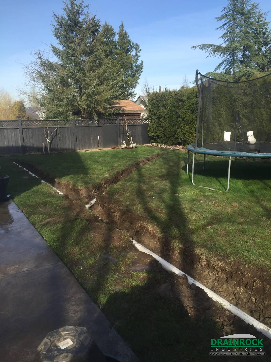 Wet Yard Drainage Surrey Drainage Contractor Yard