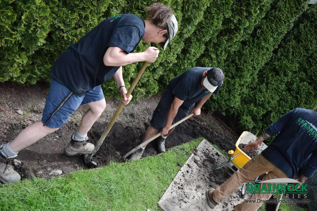 Wet Yard Drainage | Surrey Drainage Contractor | Yard ...