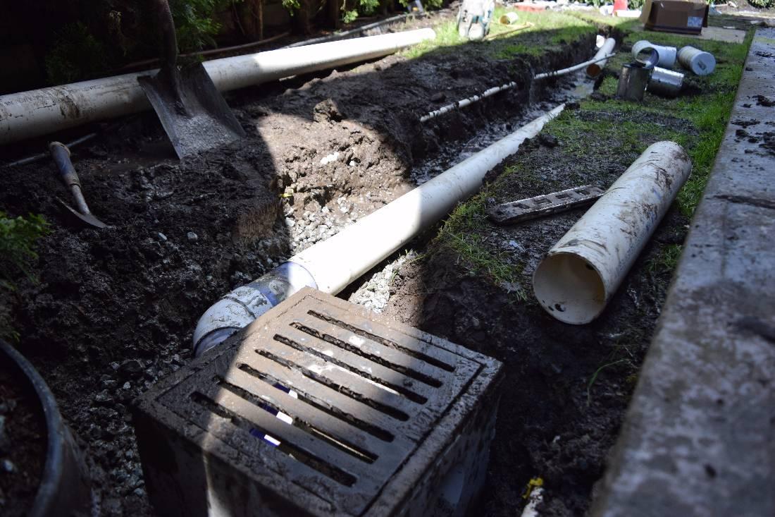 Wet Yard Drainage | Surrey Drainage Contractor | Yard, Perimeter