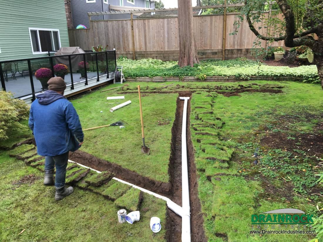 Wet Yard Drainage Surrey Contractor